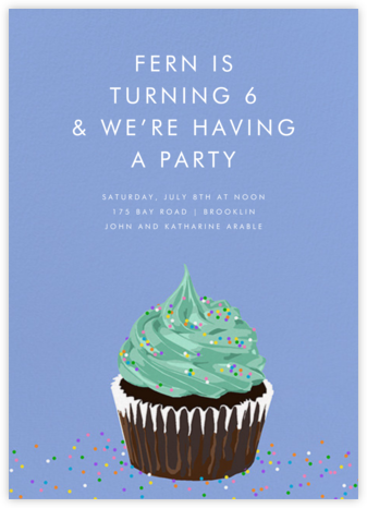 Chocolate Cupcake (Invitation) - Hannah Berman - Kids' birthday invitations