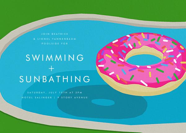 Donut Floatie - Hannah Berman - Summer entertaining invitations