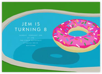Donut Floatie - Hannah Berman - Pool party invitations