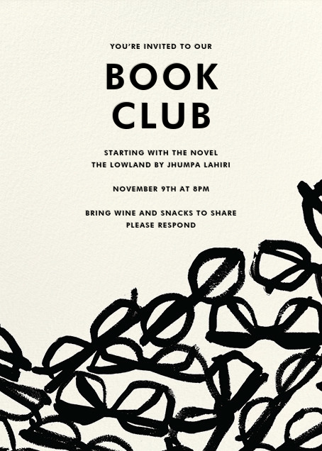 Book club invitations online at Paperless Post