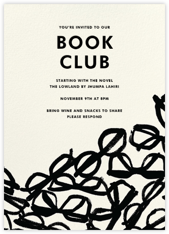 Literary Glasses - kate spade new york - Book club invitations