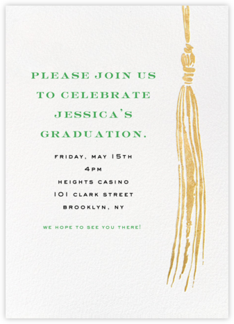 Tassel - Gold - kate spade new york - Celebration invitations