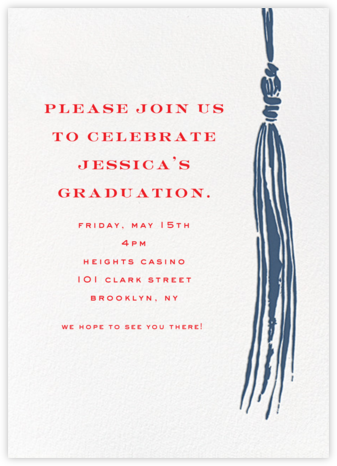 Tassel - Blue - kate spade new york - Celebration invitations