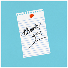 Thank You Note - Hannah Berman - Online greeting cards