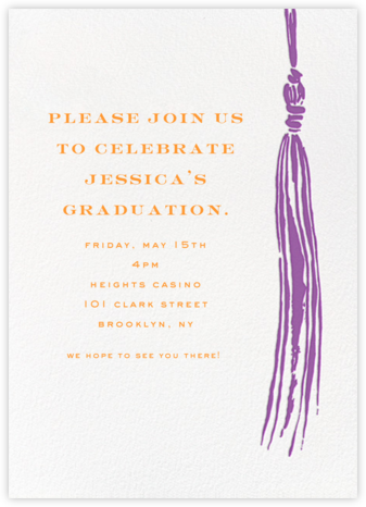 Tassel - Purple - kate spade new york - Celebration invitations