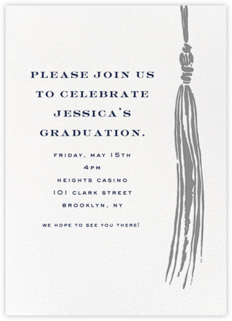 Tassel - Gray - kate spade new york - Kate Spade invitations, save the dates, and cards