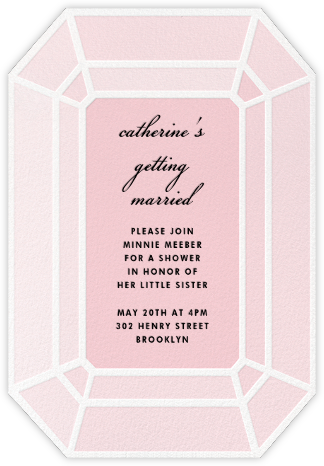 Gem - Pink - kate spade new york - Kate Spade invitations, save the dates, and cards