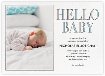 Hello Baby - Blue - kate spade new york