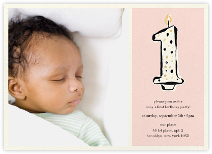 Daisy Place Birthday (Photo) - Pink - kate spade new york - First Birthday Invitations
