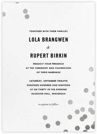 Confetti (Invitation) - White/Silver | null
