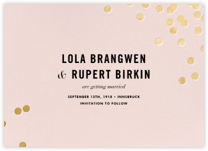 Confetti (Save the Date) - Blush/Gold - kate spade new york - Save the dates