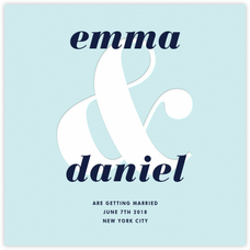 Ampersand (Save the Date) - Light Blue