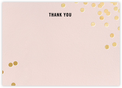 Confetti (Stationery) - Blush/Gold - kate spade new york - Wedding thank you notes