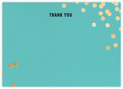 Confetti (Stationery) - Aqua/Gold - kate spade new york - Wedding thank you notes