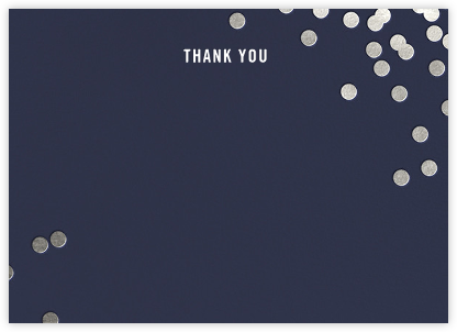 Confetti (Stationery) - Navy/Silver - kate spade new york - Wedding thank you notes