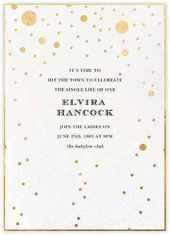 Champagne Bubbles (Single-Sided) - kate spade new york - Bachelorette party invitations