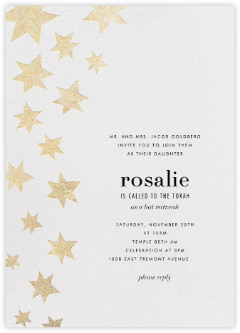 Lumina Cascade - White - Kelly Wearstler - Bar and Bat Mitzvah Invitations