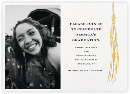 Tassel (Photo) - Gold - kate spade new york - Online Party Invitations