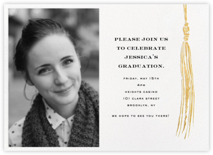 Tassel (Photo) - Gold - kate spade new york - Kate Spade invitations, save the dates, and cards