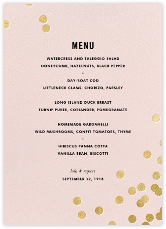 Confetti (Menu) - Blush/Gold | tall