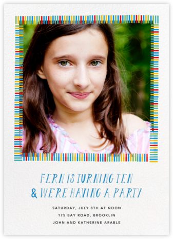 Mini Berlin (Photo) - Blue - Mr. Boddington's Studio - Online Kids' Birthday Invitations