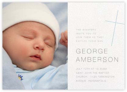 Faithful (Photo) - Glacier - Paperless Post - Baptism invitations