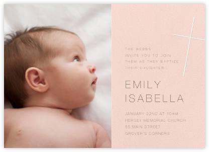 Faithful (Photo) - Meringue - Paperless Post - Christening Invitations