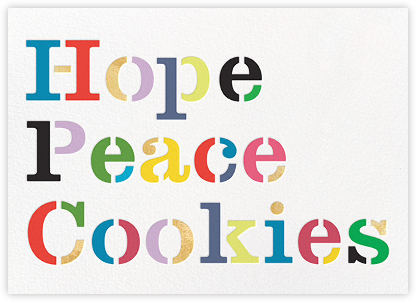 Hope Peace Cookies - kate spade new york - New Year Cards