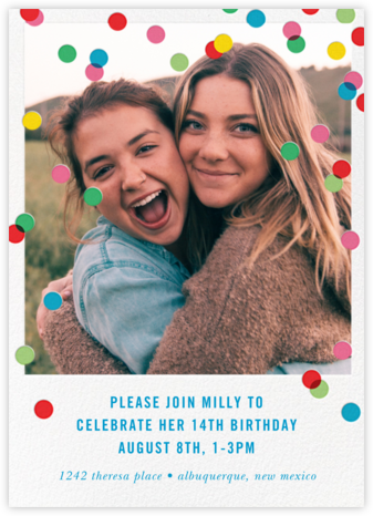 Birthday Baronial (Photo Invitation) - White - kate spade new york - Online Kids' Birthday Invitations