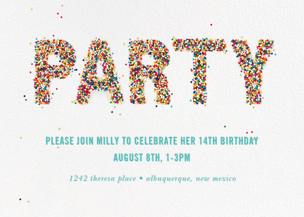 Birthday invitations online at Paperless Post