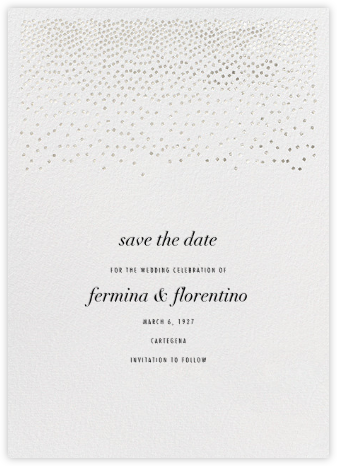 Jubilee II (Save the Date) - Silver - Kelly Wearstler - Save the dates