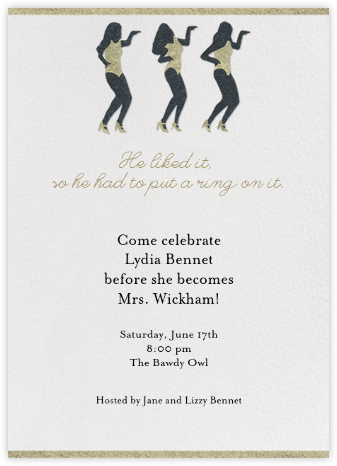 Put a Ring - Tall - Paperless Post - Bachelorette party invitations
