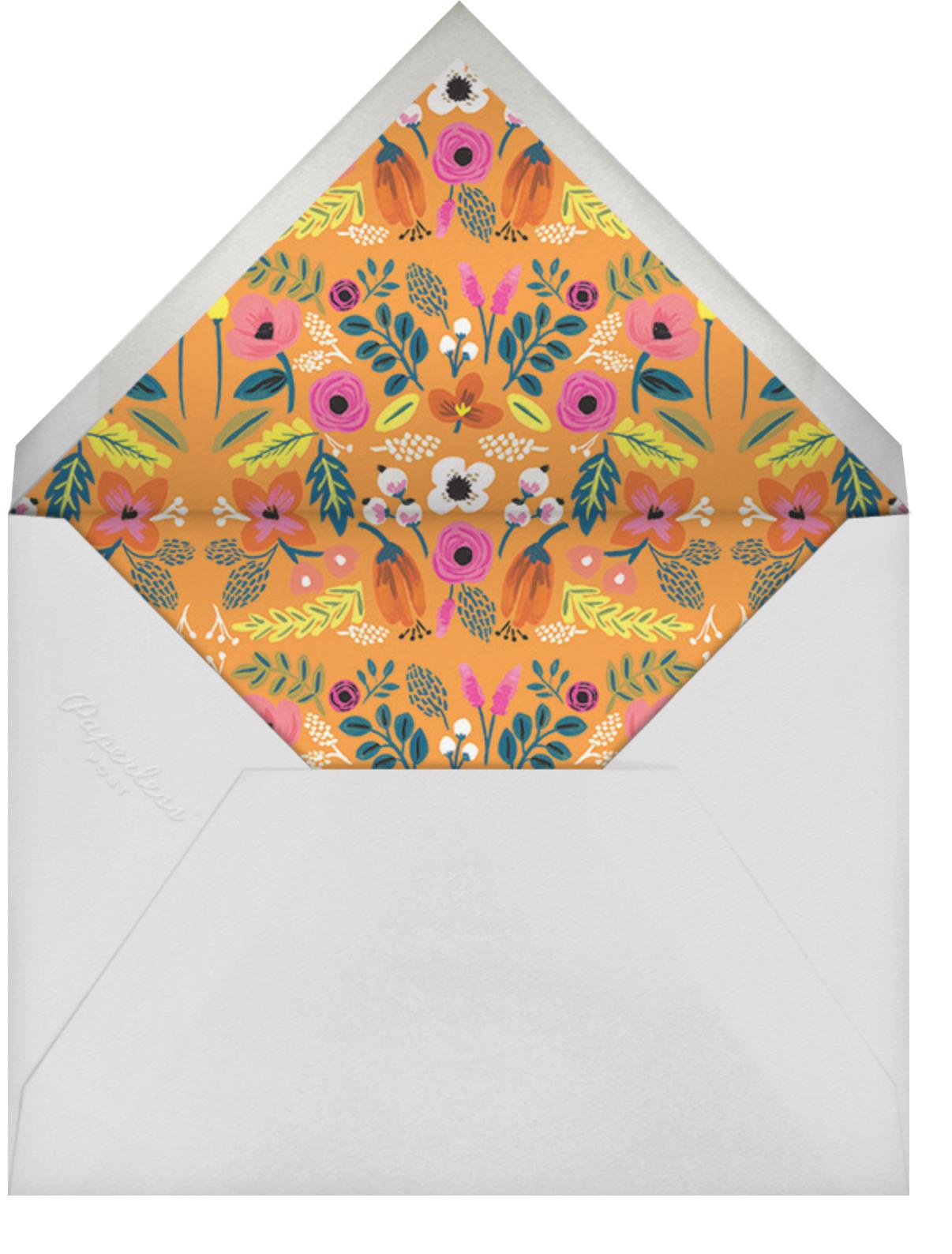 Folk Floral - Pink - Rifle Paper Co. - Kids' birthday - envelope back