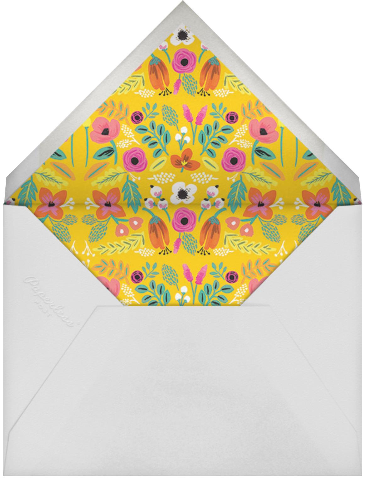 Folk Floral - Blue - Rifle Paper Co. - Kids' birthday - envelope back