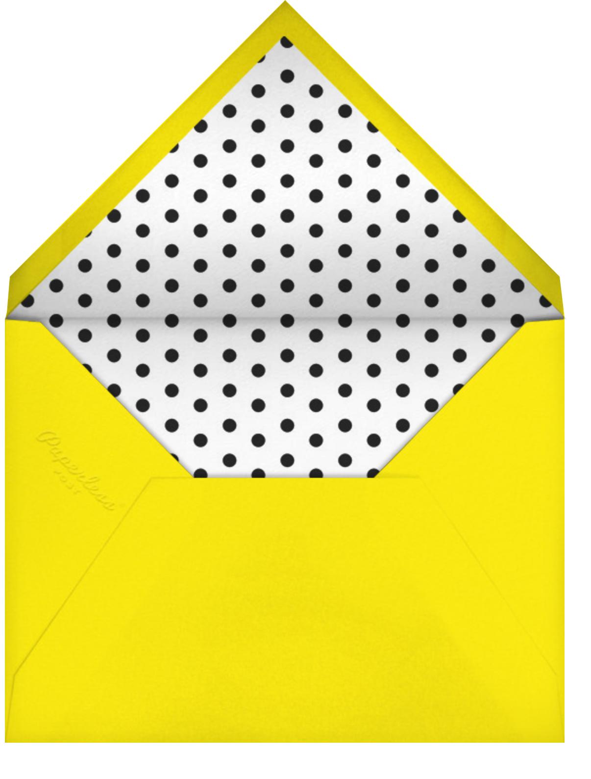 Pop Bolt - Black - Paper + Cup - Kids' birthday - envelope back