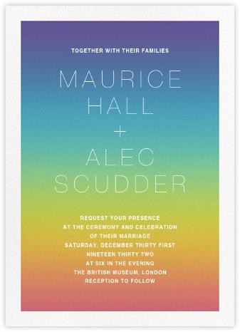 After the Rain (Invitation) - Paperless Post - Rainbow invitations