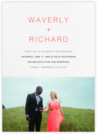 Tableau (Invitation) - Paperless Post - Wedding invitations