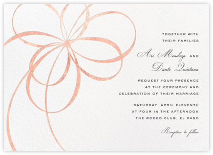 Belle Boulevard (Invitation) - Rose Gold - kate spade new york -