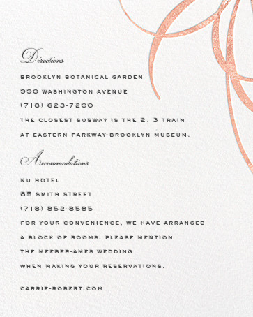 Belle Boulevard (Invitation) - Rose Gold - kate spade new york - All - insert front