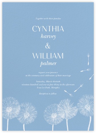 Montmagny (Invitation) - Spring Rain - Paperless Post - Wedding Invitations