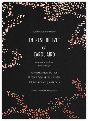 Evoke (Invitation) - Black/Rose Gold - Kelly Wearstler - Wedding Invitations