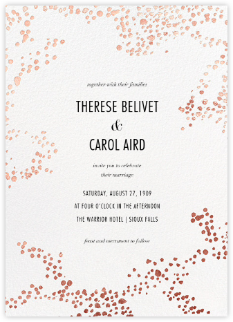Evoke (Invitation) - White/Rose Gold - Kelly Wearstler -