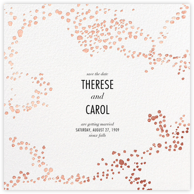 Evoke (Save the Date) - White/Rose Gold - Kelly Wearstler - Save the dates