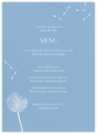 Montmagny (Menu) - Spring Rain - Paperless Post - Wedding menus and programs - available in paper