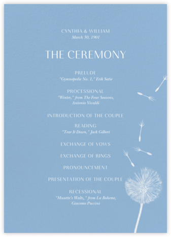 Montmagny (Program) - Spring Rain - Paperless Post - Wedding menus and programs - available in paper
