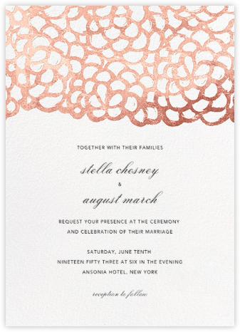 Gardenia - White/Rose Gold - Oscar de la Renta - Wedding Invitations