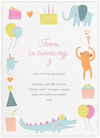Sweet Treats for Allie - Little Cube - Birthday invitations
