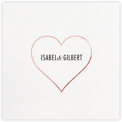 Heart Line - Rose Gold - Paperless Post - Save the dates