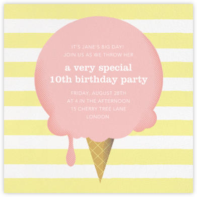 The Big Scoop - Pavlova - Paperless Post - Online Kids' Birthday Invitations