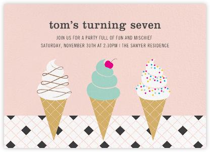 Ice Cream Parlor - Meringue - Paperless Post - Kids' birthday invitations